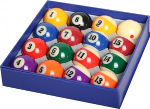 Pool Ball Set With Pro Cup Q Ball